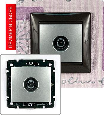 770129 Розетка TV простая