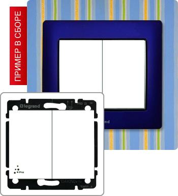 771022_Переключатель на 2 направления двухклавишный 10А IP44