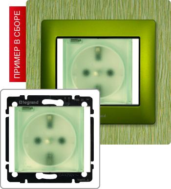 775924_Розетка с заземлением с прозрачной крышкой, 16А IP44
