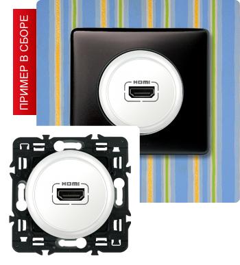 Розетка аудио/видео HDMI