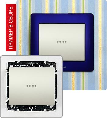 Выключатель одноклавишный с подсветкой 10А