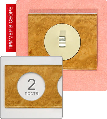 Рамки Celiane - фото Рамка двухпостовая